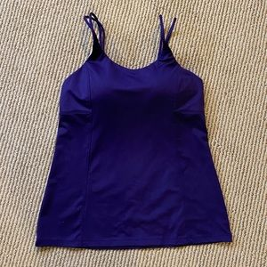 Athleta tank with built-in padded bra